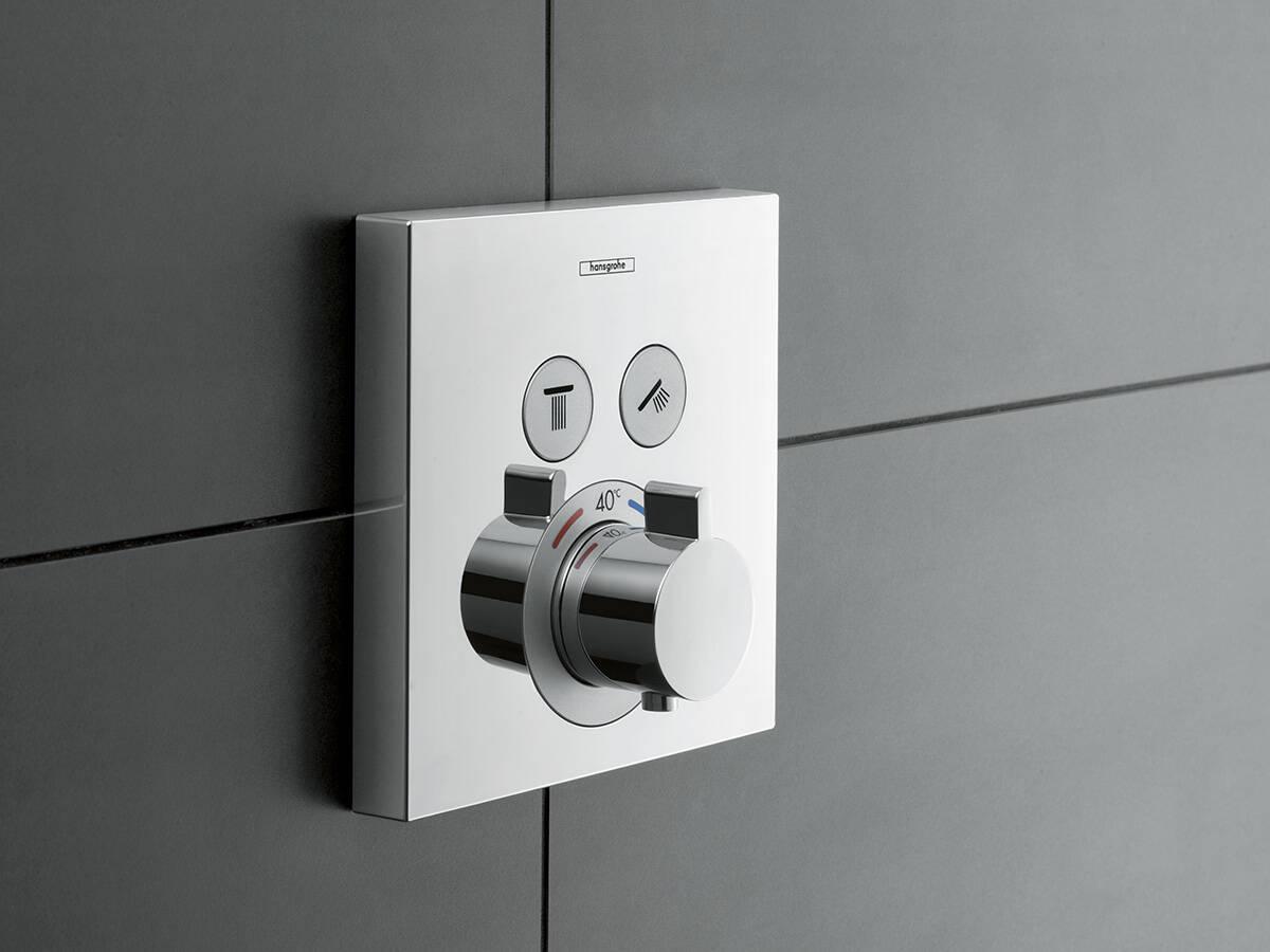 ShowerSelect 淋浴系列暗装恒温器。