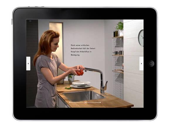汉斯格雅 iPad App:厨房龙头。