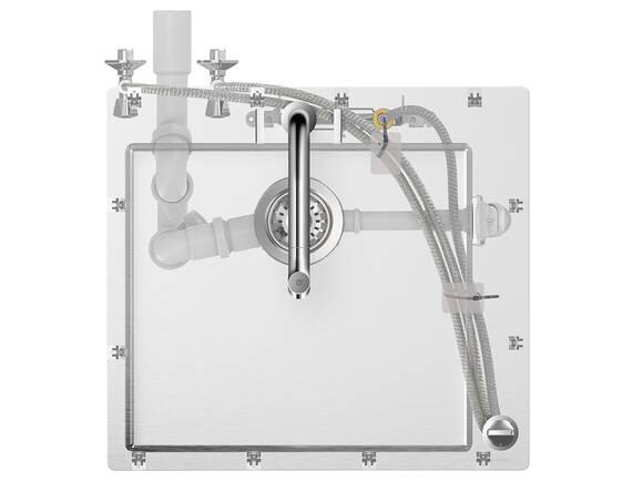 水槽与龙头组合方便安装。