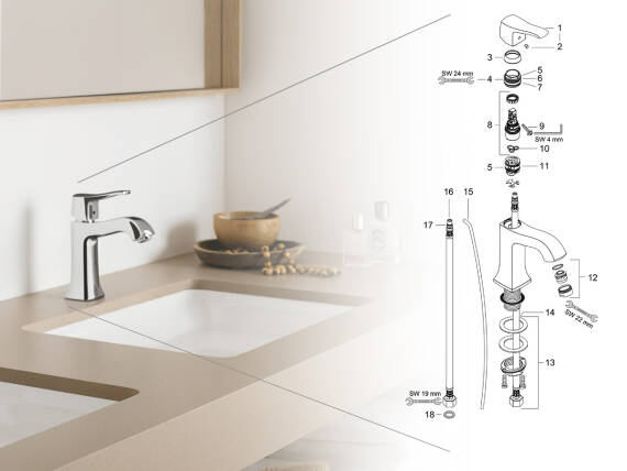 Find Spare Parts For Shower Heads And Faucets Hansgrohe Usa