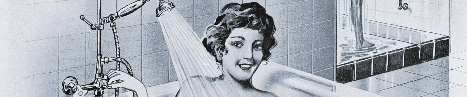 1953年,汉斯格雅发明了花洒杆。