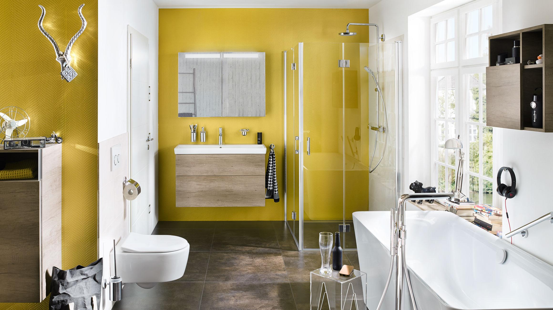Luxury Yellow Bathroom Decor