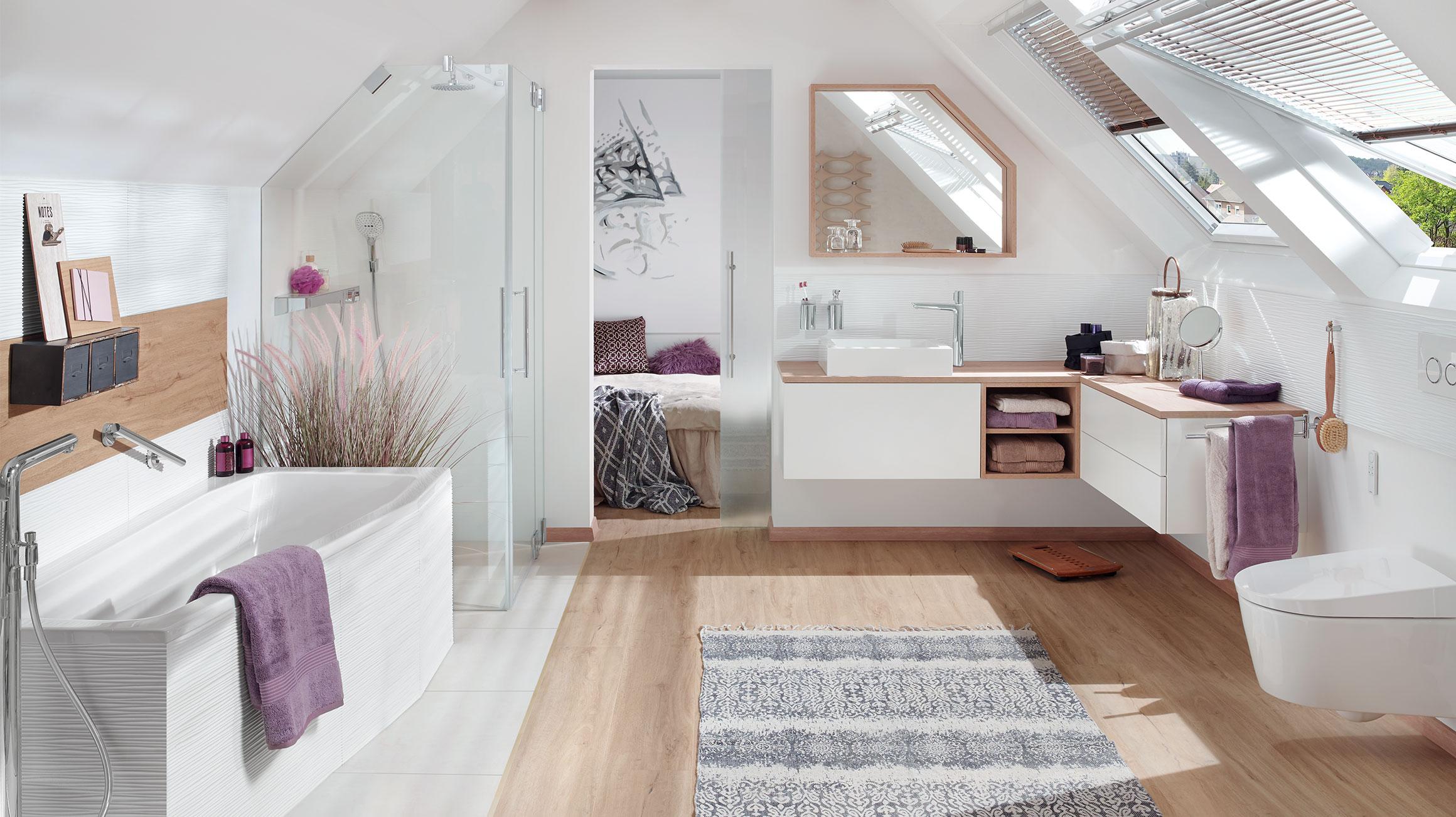 Een Gezellige Badkamer : De woonbadkamer gezellig inrichten u bijvoorbeeld onder het dak