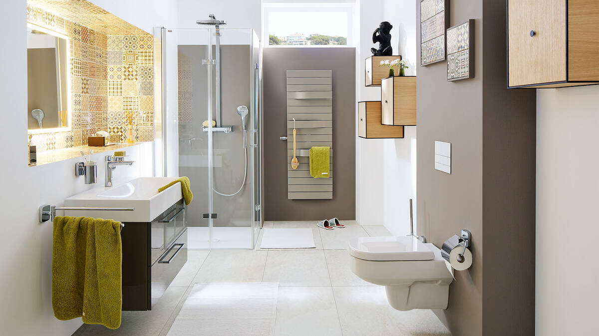 Guest Bathroom With Individual Design And Le Ings