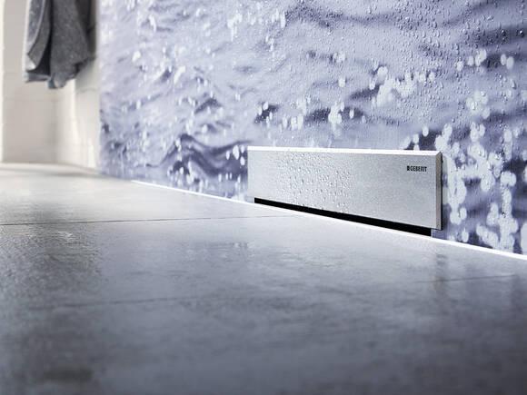 用于与地面齐平的淋浴房的 Geberit 排水技术。