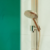 Select S 120 hand shower in red gold.