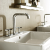 Axor Citterio E lavatory faucet with cross handles.