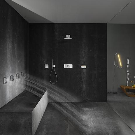 elegante duschsteuerung mit axor one hansgrohe de. Black Bedroom Furniture Sets. Home Design Ideas