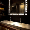 Double wash basin featuring Axor Starck.