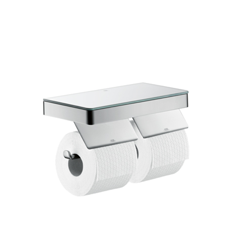 Axor Universal Shelf In Combination With Two Roll Holders To The Bathroom Accessories