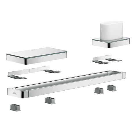 hansgrohe bathroom accessories. detailed view of the axor universal accessories. hansgrohe bathroom accessories h