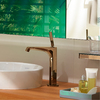 Axor Citterio E single-hole faucet in red gold.