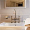 Axor Montreux bridge faucet in brushed bronze.