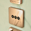 Axor ShowerSelect for the shower in red gold.