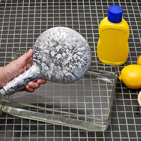 Shower Head With Limescale.