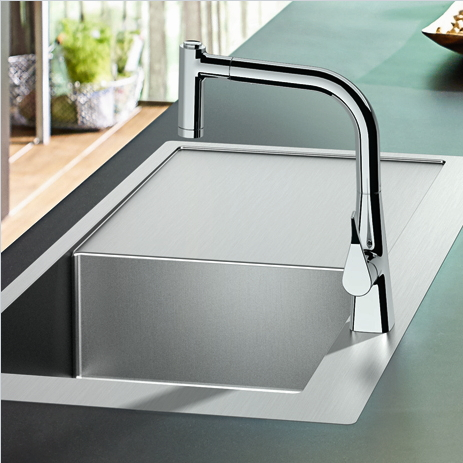 Sink With Draining Board.