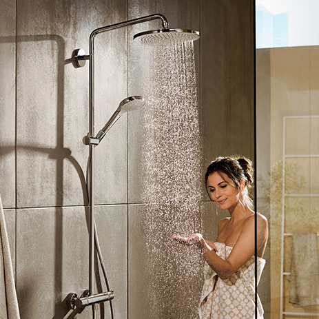 Shower Systems Showerpipes Shower Panels Hansgrohe Int