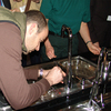 In conjunction with customs, Hansgrohe dismantles counterfeit mixers and showers at the sanitary trade fair ISH 2009.