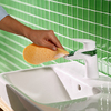 hansgrohe foam limescale remover: wipe the mixer.
