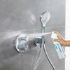 hansgrohe foam limescale remover: spray the thermostatic mixer.
