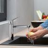 Linear hansgrohe kitchen tap