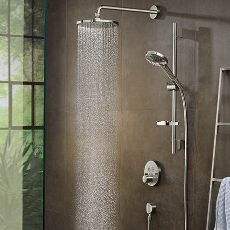 Incroyable ... Hansgrohe Overhead Shower With PowderRain. ...