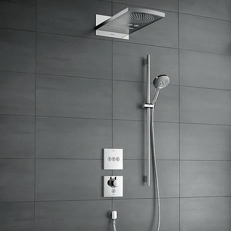 Select: Neue Unterputzlösungen fürs Bad | Hansgrohe AT | {Armaturen dusche unterputz 4}