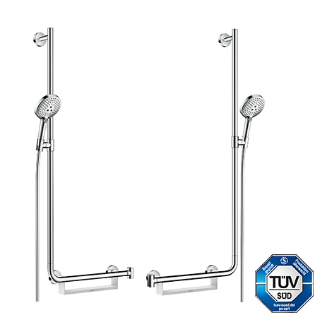 Unica Comfort Wall Bar. Raindance Select S 120/ Unica Comfort Shower Set.