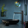 Basin tap in elegant black