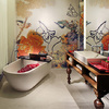 Bathroom featuring opulent décor and Hansgrohe products