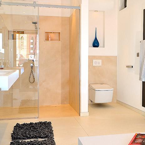 Trend im Badezimmer: bodenebene Dusche