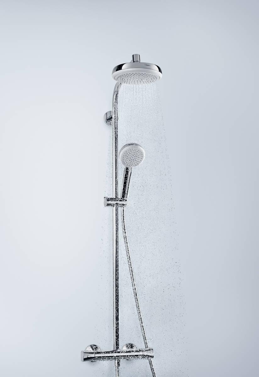 hansgrohe showerpipes crometta 1 strahlart art nr 27264400 hansgrohe de. Black Bedroom Furniture Sets. Home Design Ideas