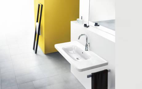 a Mitigeur de lavabo simple p/ôle haut haut de table robinet de salle de bain en laiton massif chrom/é