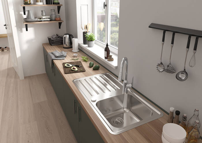 Hansgrohe Sinks S41 S4113 F400 Built