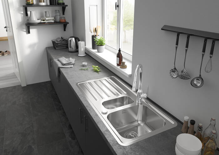 Hansgrohe Sinks S41 S4113 F540 Built