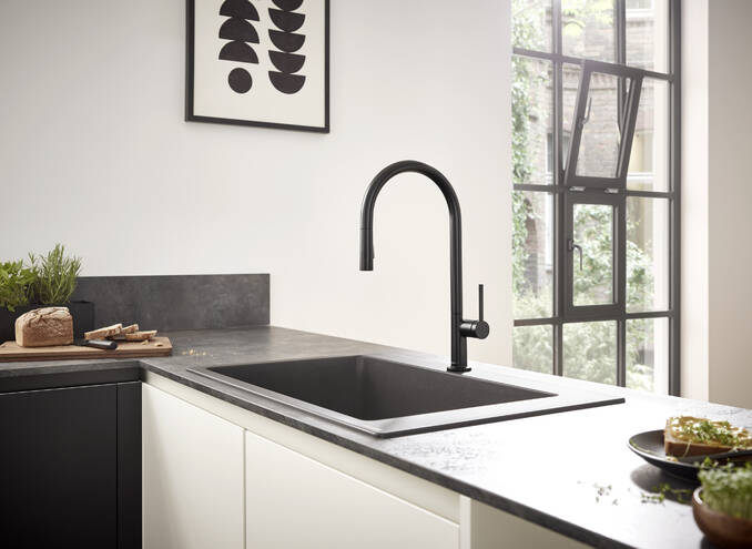 Hansgrohe Kitchen Mixers Talis M54 Single Lever Kitchen Mixer 210 Pull Out Spray 2jet Item No 72800000 Hansgrohe Int