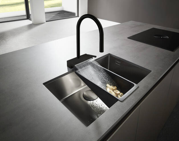 Hansgrohe Kitchen Faucets Aquno Select Higharc Kitchen Faucet 3 Spray Pull Down With Sbox 1 75 Gpm Art No 73831001 Hansgrohe Usa