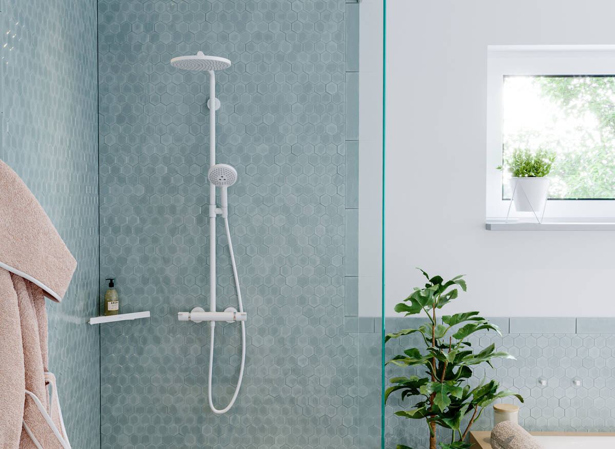 Hansgrohe Showerpipes Croma Select S 1 Straalsoort Art Nr 26890140 Hansgrohe Nl