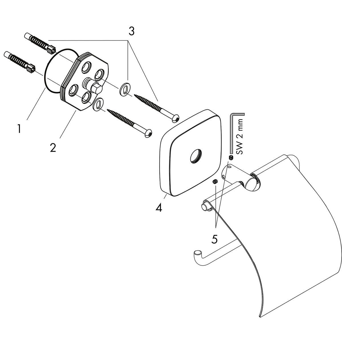 hansgrohe accessoires puravida porte papier avec couvercle n article 41508000 hansgrohe fr. Black Bedroom Furniture Sets. Home Design Ideas