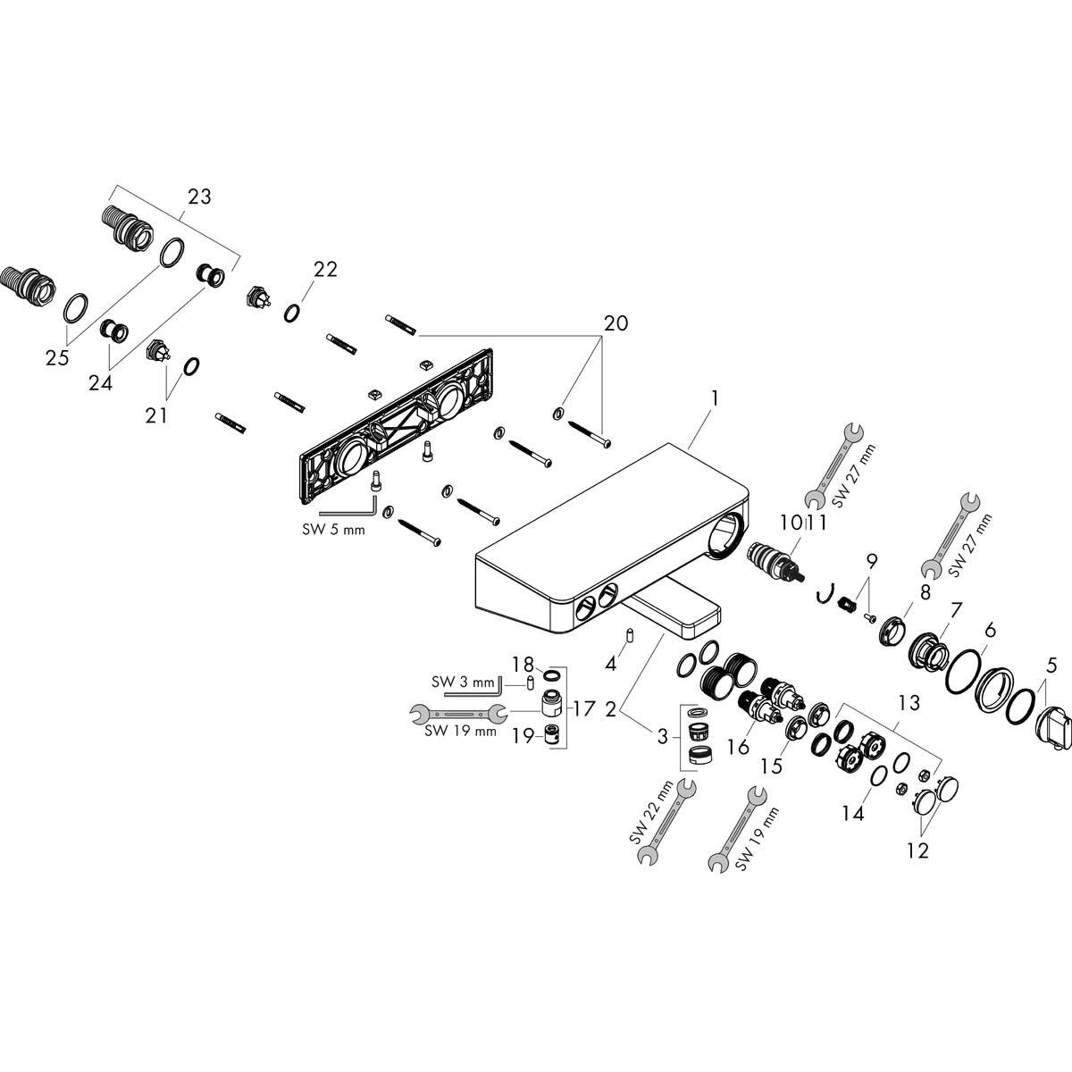showertablet select wannenarmaturen 2 verbraucher wei chrom art nr 13151400 hansgrohe de. Black Bedroom Furniture Sets. Home Design Ideas