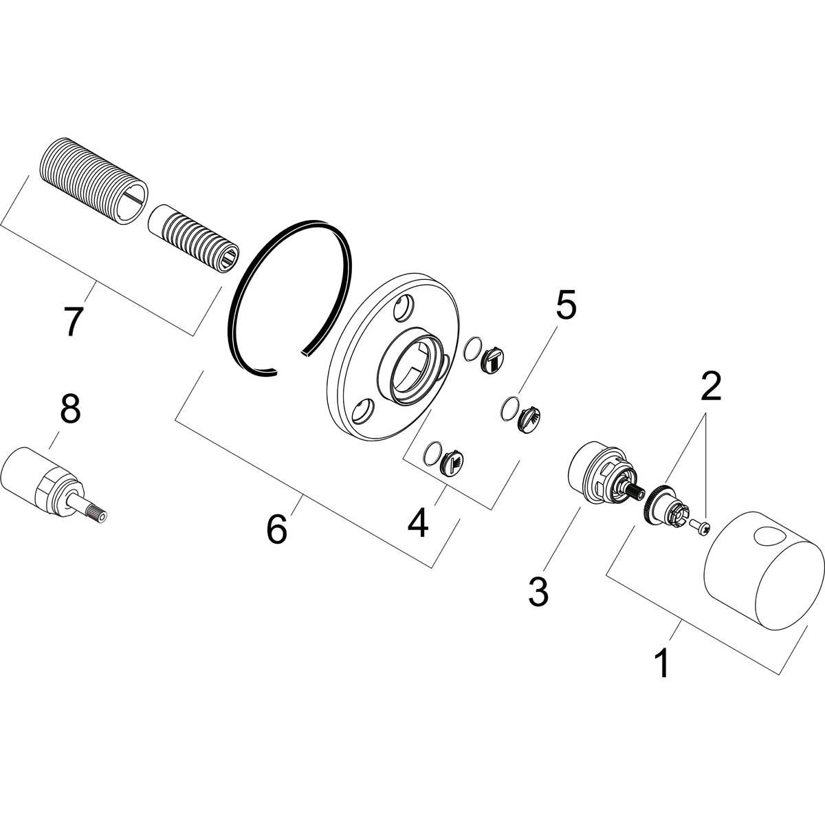 hansgrohe Shut-off and diverter valves: Shut-off