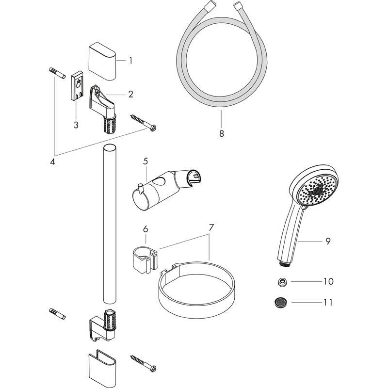 hansgrohe Wallbar sets: Croma 100, Shower set Multi