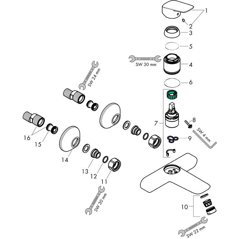 Logis Washbasin mixers: Chrome, Item No. 71225000