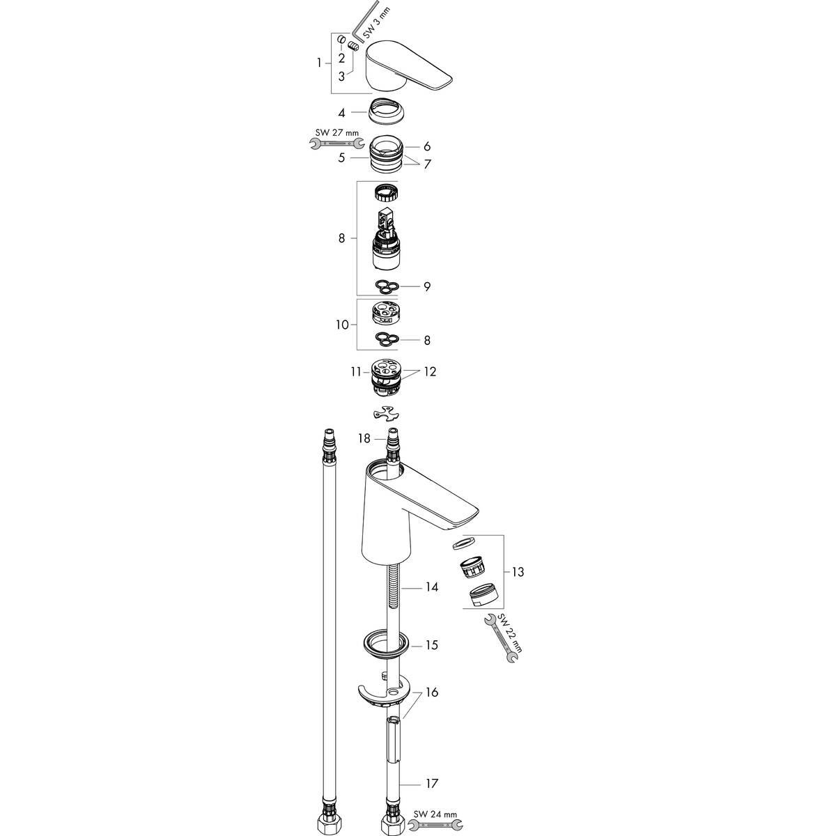 Talis E Washbasin Mixers Chrome Item No 71712003