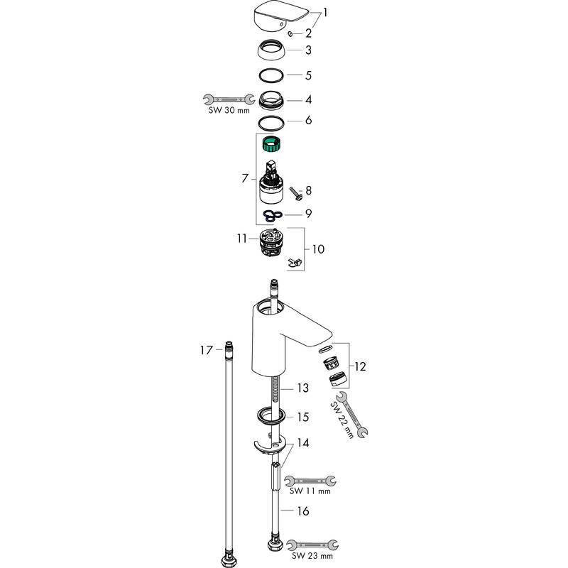 Logis Washbasin mixers: Chrome, Item No. 71101003