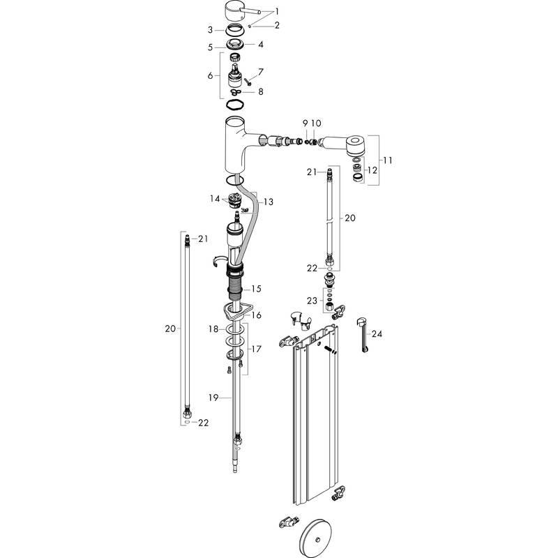 hansgrohe Grifería de cocina: M52, M5216-H170 Mezclador
