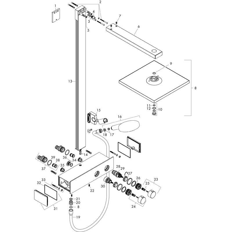 hansgrohe showerpipes raindance e 1 strahlart art nr 27362000 hansgrohe de. Black Bedroom Furniture Sets. Home Design Ideas