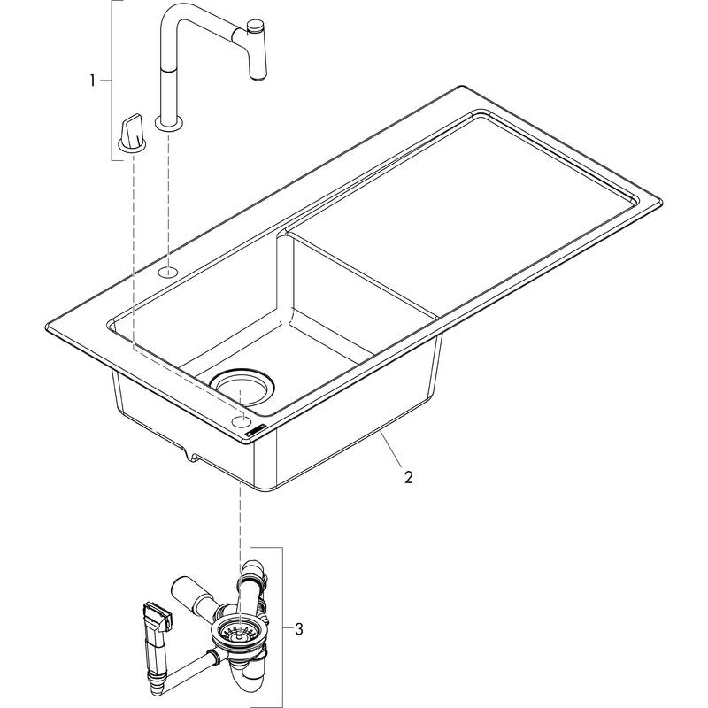 Hansgrohe Sink Combinations Bundle C51 C51 F450 12