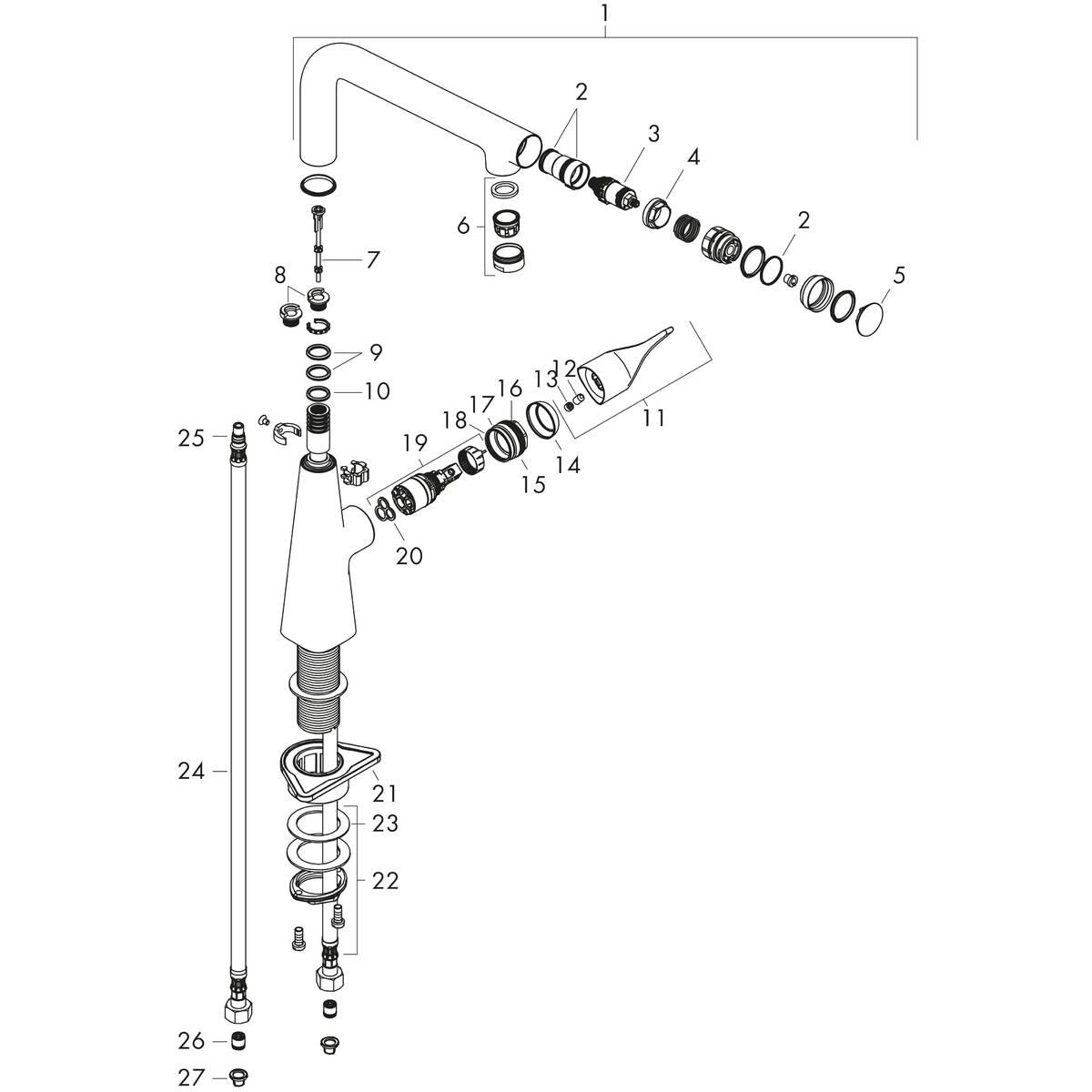 hansgrohe Grifería de cocina: M71, M712-H260 Mezclador
