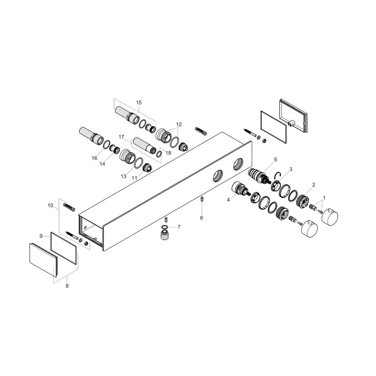 Showertablet Shower Faucets 2 Outlets Chrome Art No 13108001 Kitchen Gt Plumbing Systems Diagram Spare Parts For Product